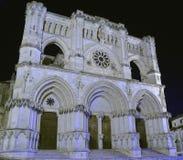 Собор Cuenca в Испании на ноче Стоковые Изображения RF