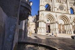 Собор Cuenca, детали источника Стоковое фото RF