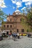 Собор Cuenca, эквадора в дне голубого неба диаграмма иллюстрация южные 3 3d америки красивейшая габаритная очень Стоковые Изображения