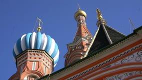 Собор de San Basilio Ла в Москве сток-видео