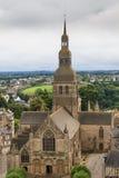 Собор Dinan, Бретани, Франции Стоковое фото RF