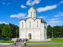 Собор Dmitrievsky (Dmitrovsky), Владимир, Россия Стоковые Фото