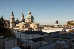 Собор Dom Зальцбурга барочный, Зальцбург, Австрия Стоковые Изображения RF