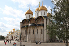 Собор Dormition, в Кремле moscow Россия Стоковое фото RF