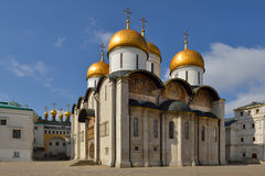 Собор Dormition Москвы Кремля также известный как собор предположения Стоковое Фото
