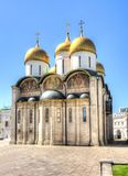 Собор Dormition Uspensky Sobor или собор предположения Москвы Кремля, России Стоковое Фото