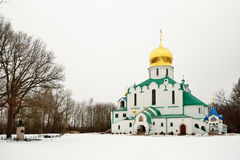 Собор Feodorovsky правоверный в парке Александра Pushkin Стоковые Фотографии RF