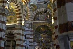 Собор Garde Ла Нотр-Дам De, interrior марсель Франции стоковое изображение