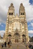 Собор Gatien Святого путешествия Франция стоковое фото rf