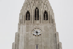 Собор Hallgrimskirkja в Reykjavik, Исландии Стоковое Фото