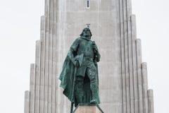 Собор Hallgrimskirkja в Reykjavik, Исландии Стоковая Фотография