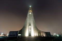 Собор Hallgrimskirkja в reykjavik Исландии Стоковая Фотография