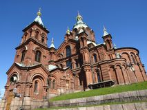 собор helsinki uspensky стоковые фотографии rf