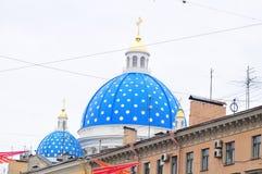Собор Izmailovsky купола Стоковая Фотография RF