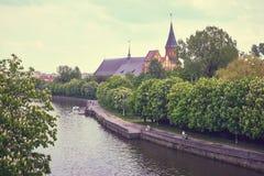 Собор Kenigsberg главным образом символ города Калининград стоковое фото
