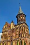 Собор Koenigsberg - готический XIV век виска. Калининград (до Koenigsberg 1946), Россия стоковые фото