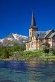 Собор Lofoten в Норвегии Стоковая Фотография RF