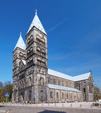 собор lund Швеция Стоковое Изображение RF