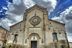 собор matera basilicata Стоковые Изображения