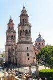 Собор Morelia в Michoacan Мексике Стоковые Фото