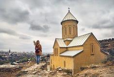 Собор Narikala в Тбилиси Стоковые Фото