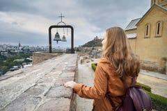 Собор Narikala в Тбилиси Стоковое Изображение