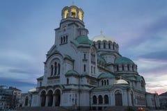 собор nevsky sofia Александра Болгарии Стоковые Фотографии RF