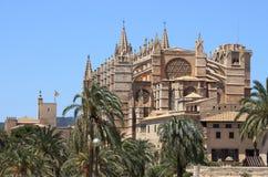 Собор Palma de Mallorca Стоковые Изображения