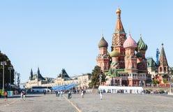 Собор Pokrovsky в Москве Кремле в после полудня Стоковая Фотография