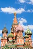 Собор Pokrovsky на красной площади в Москве Стоковое Изображение RF