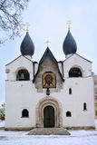 Собор Pokrovsky на монастыре Святых Mary и Марты, Москвы Стоковая Фотография