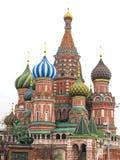 Собор Pokrovsky (собор базилика St) и статуя в Москве Стоковые Фото