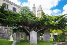 Собор Rochester Англия во-вторых самая старая, основываемый в 604AD Стоковые Изображения RF