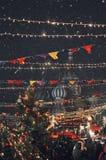 Собор ` s базилика Святого в красной площади Ярмарка рождества Стоковые Фото