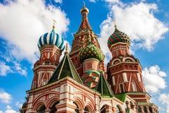 Собор ` s базилика Святого в красной площади, Москве Стоковое Фото