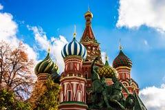 Собор ` s базилика Святого в красной площади, Москве Стоковые Фотографии RF