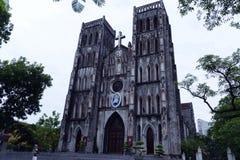 Собор ` s St Joseph католический, Ханой, Вьетнам стоковое фото