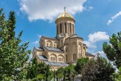 Собор Sameba, Тбилиси, Georgia, Европа стоковые фотографии rf