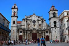 Собор San Cristobal Куба Стоковое Изображение