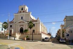 Собор San Felipe, Calle Gonzalo Marin, Аресибо, Пуэрто-Рико Стоковое Фото