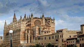 Собор Santa Maria Palma, Майорка, Испании стоковые изображения