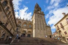 Собор Santiago de Compostela в Santiago de Compostela, Испании стоковое фото rf