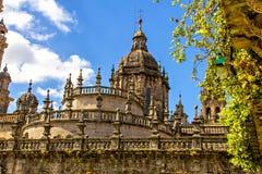 Собор Santiago de Compostela стоковые изображения