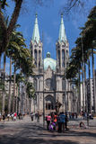 Собор Sao Paulo Бразилия Se Стоковые Изображения RF