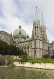 Собор Se в Сан-Паулу, Бразилии Стоковые Фото