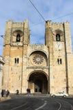 Собор Se в Alfama, Лиссабоне, Португалии стоковое изображение