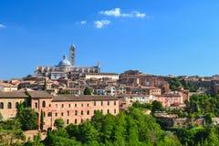 Собор Siena, Тоскана, Италия Стоковые Фото