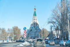 Собор Sophia на улице Sokolov в самаре стоковое изображение rf