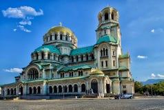 Собор St Александра Nevsky, София стоковые изображения