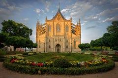 Собор St Барбары, Kutna Hora стоковые изображения